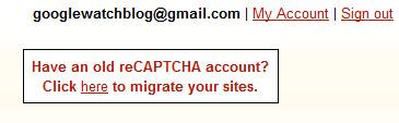 reCAPTCHA: Accounts zusammenführen