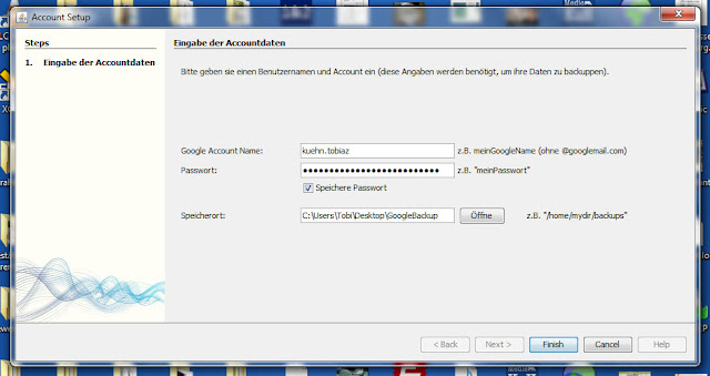 Login mit BackupGoo