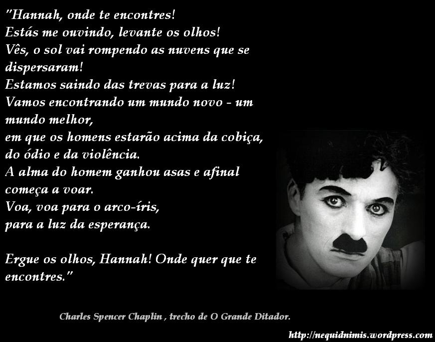 Pensamento Charles Chaplin 5 Quotes Links