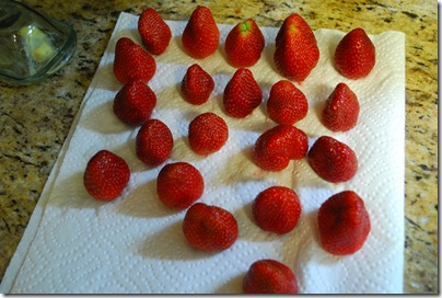 Drying the Strawberries.