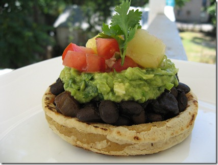 sopes with porter glazed black beans 055