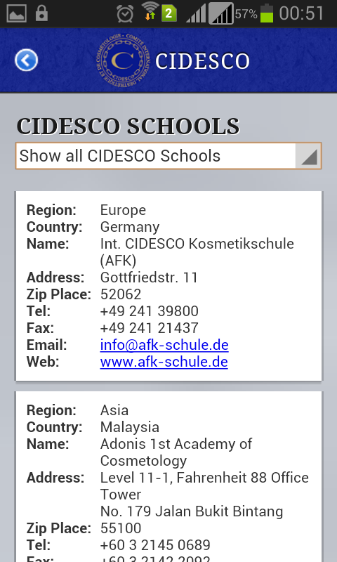 CIDESCO LINK - screenshot