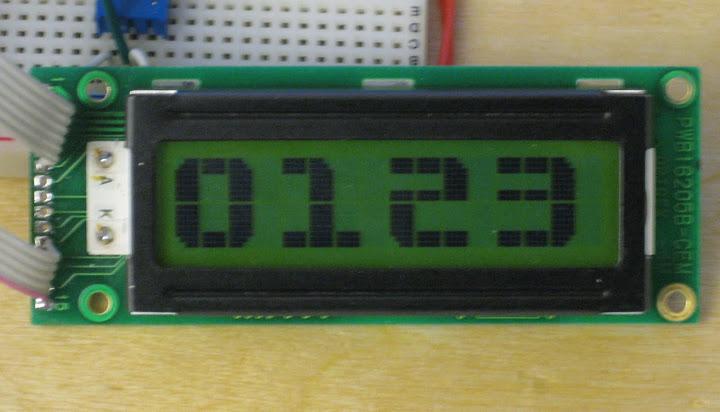 Large Alphanumeric on LCD