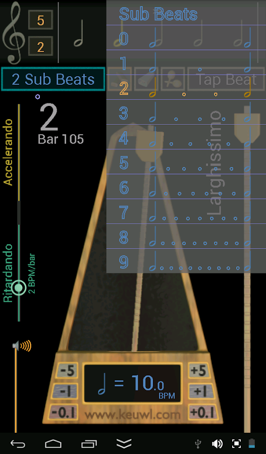 Metronome- screenshot