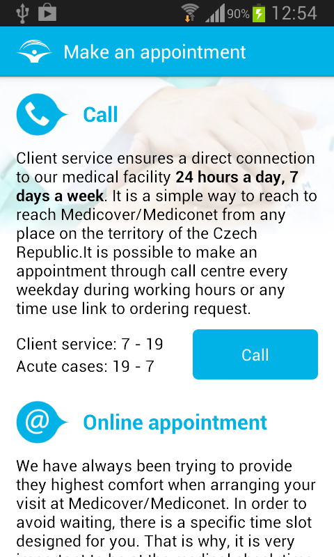 Medicover Czech- screenshot
