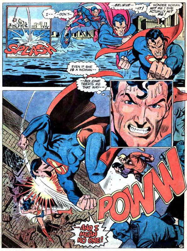 Superman Vs. Wonder Woman: Superman gets mad
