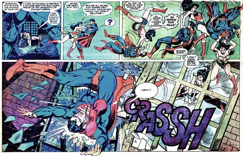 Superman Vs. Wonder Woman: Wonder Woman throws Superman