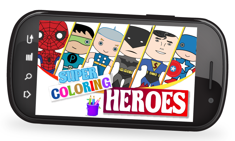Super Coloring Heroes- screenshot