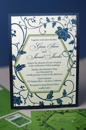 Gina Jarrod Peony And Hexagon Inspired Invitations Gourmet