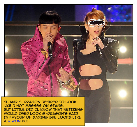 G-Dragon and his ho CL [image used courtesy of Osen]