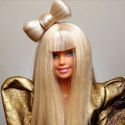 Lady Gaga Barbie: with hair bow [Lady Gaga Barbie image used courtesy of Veik 11@ flickr]