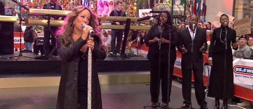 Mariah Carey's mini concert on The today show