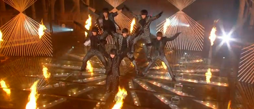 2PM's Music bank comeback stage for 'Heartbeat'