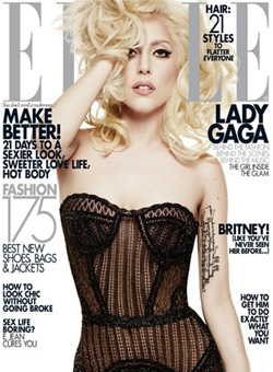 Lady Gaga on the cover of ELLE magazine