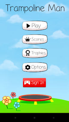 Trampoline Man (Stickman Game) screenshot