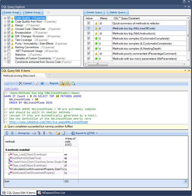 Measuring Code Quality with NDepend - DZone