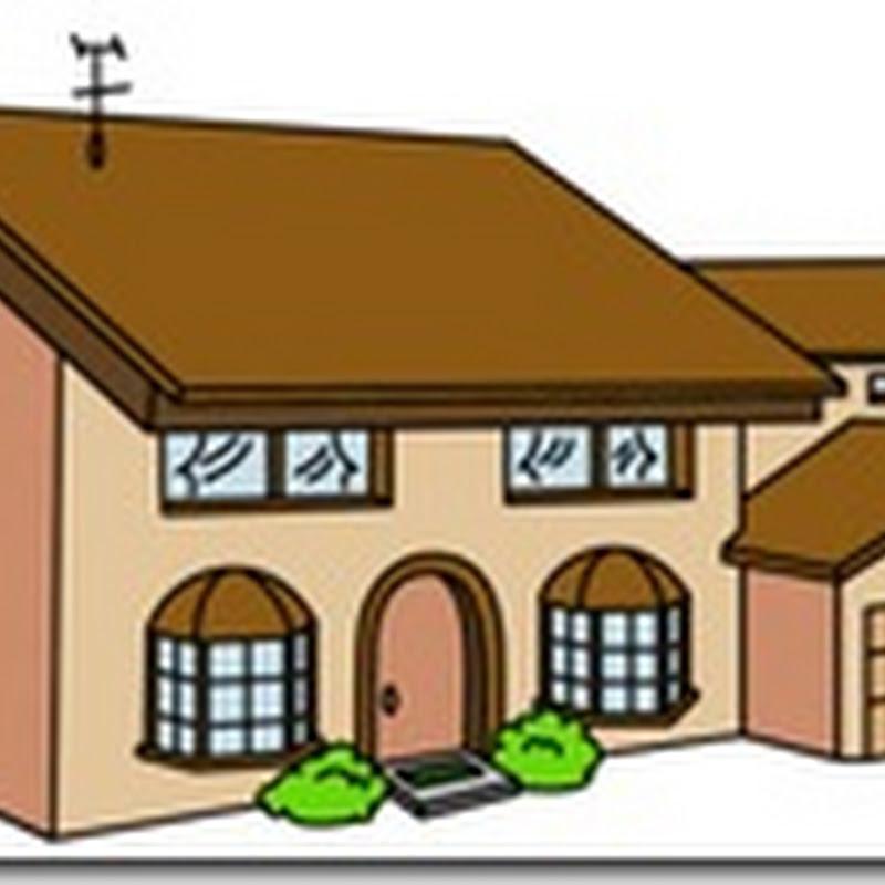 Para recortar y montar Casa de los Simpson
