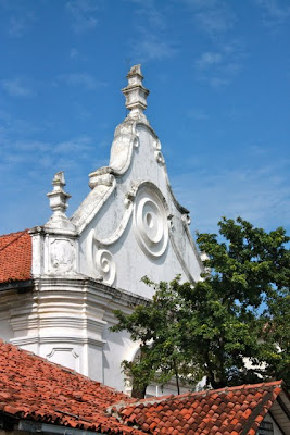 Colonial architecture in Galle Fort in Sri Lanka