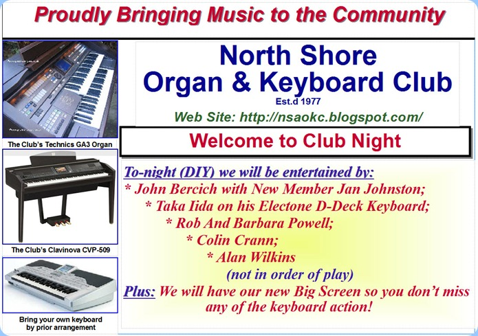Club Night 7th Sept 2010 - not to be missed!