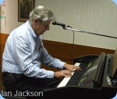 Ian Jackson played some very nice gently ballads for us.