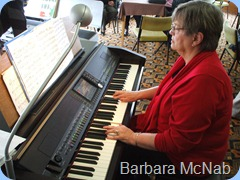 Barbara McNab entertaining us on the Clavinova