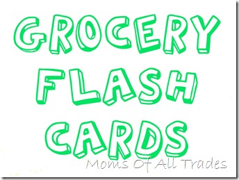 Grocery Flash Cards  Grocery Words