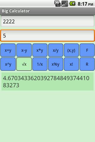 Big Calculator - στιγμιότυπο οθόνης