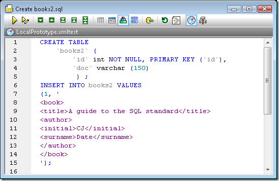 Create table script