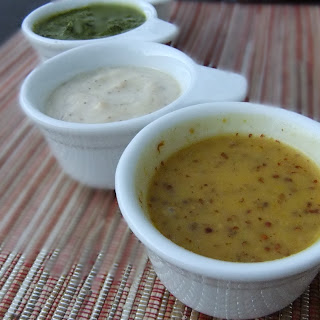 MUSTARD MAPLE SYRUP DRESSING.