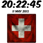 Switzerland Digital Clock