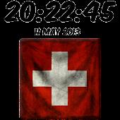 Switzerland Digital Clock