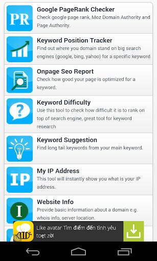 Seo tools Seo reports SERP