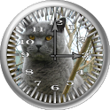 Cat 1 BritishBlue Analog Clock icon