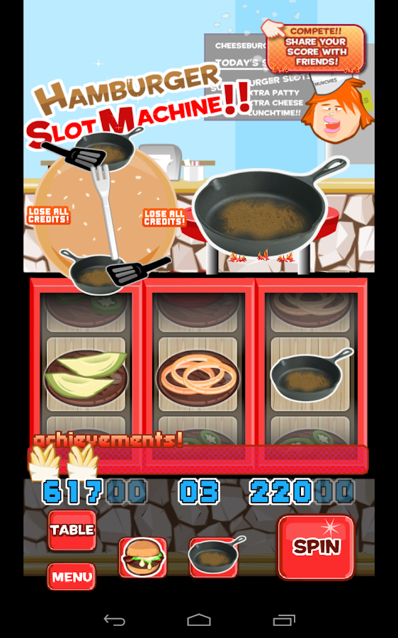 Hamburger Slotmachine Free - screenshot