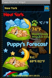 Puppy Weather Widget screenshot 3