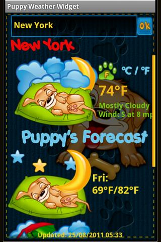 Puppy Weather Widget - screenshot