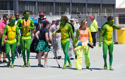 men costume teenage mutant ninja turtles  wellington sevens rugby tournament