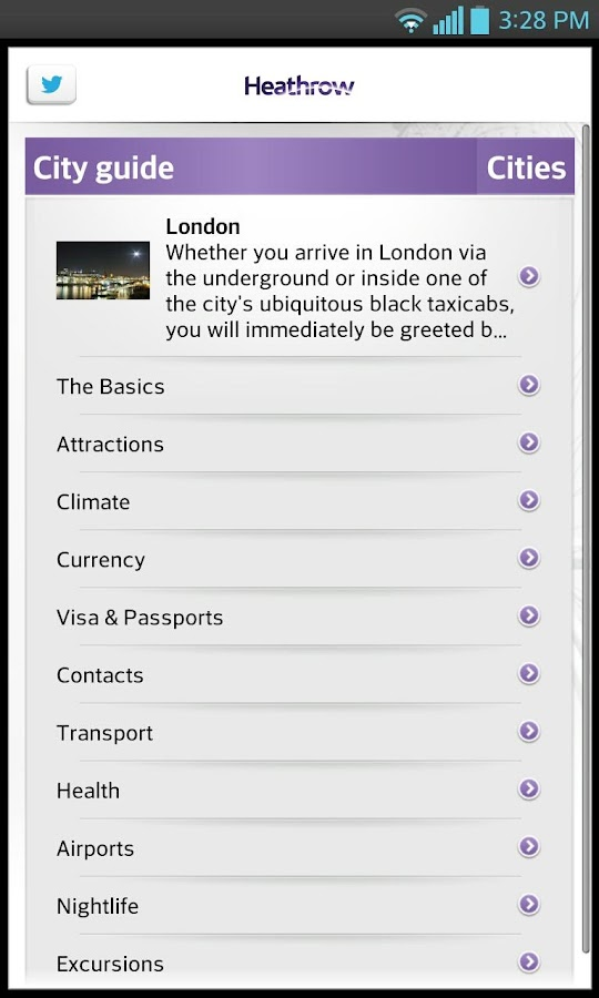 Heathrow Airport Guide - screenshot