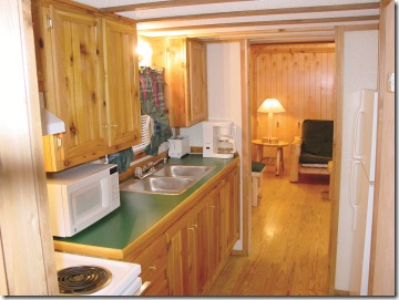 Interior of Family Rental Cabin at Lake Rudolph Campground & RV Resort