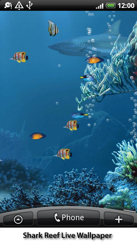 Shark Reef Live Wallpaper- screenshot