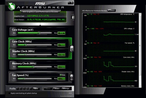 MSI Afterburner – Overclocking utility for video cards
