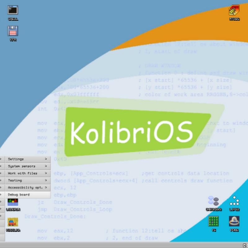 KolibriOS – An OS on a 1 44MB floppy - Instant Fundas