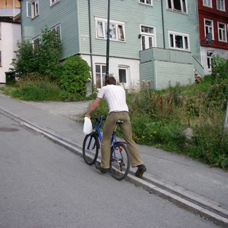Trampe – The bicycle lift of Trondheim, Norway