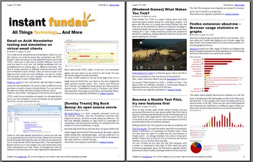 Convert RSS feed into Kindle, ePub or PDF magazine with zinepal