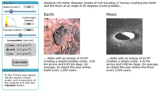 4 Asteroid Impact Calculators or Earth Collision Simulators