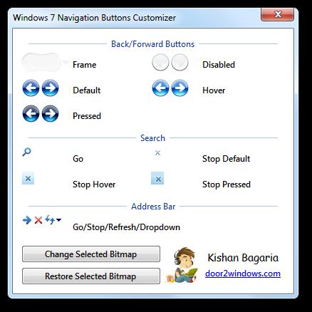 Change Windows 7 Explorer Navigation Buttons - Instant Fundas