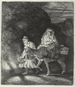 Rembrandt -The Flight into Egypt, At Night