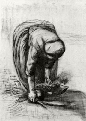 Peasant Woman Stooping and Gleaning
