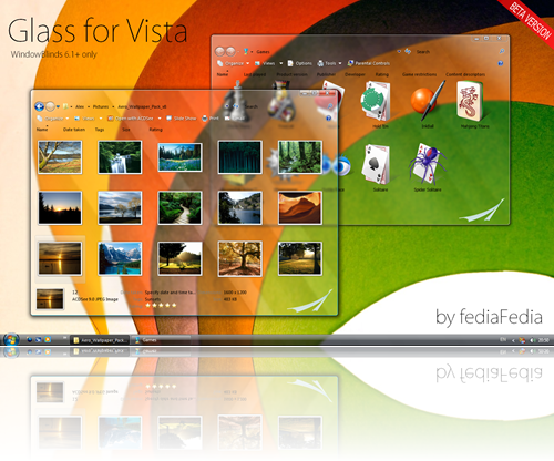 GLASS FOR VISTA . BETA 1