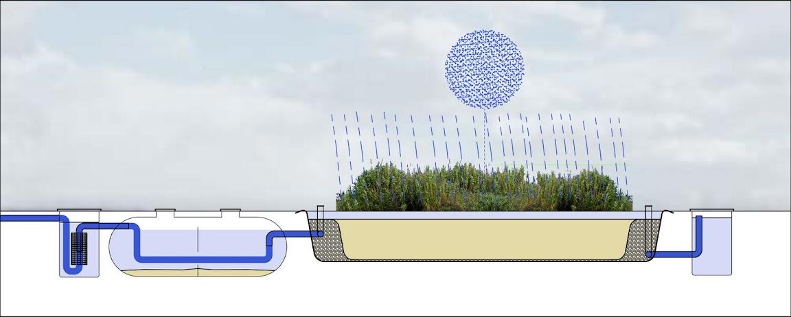 Esquema de un Sistema de Fitodepuración